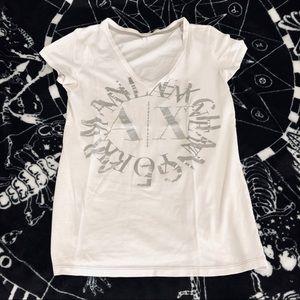 Armani EXchange XS graphic V neck T-shirt